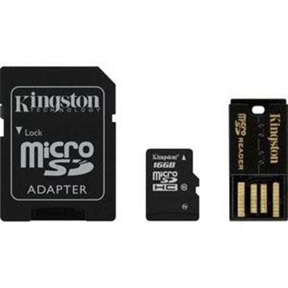 Imagen de PAQ. C/3 - KINGSTON - KINGSTON 16GB MULTI LECTOR G2 CLASE 10 KIT MICROSD CON 3 ADAP