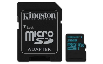 Imagen de KINGSTON - KINGSTON 32GB MICRO SD CANVAS GO U3 UHS-I V30 90MBS CADAPT