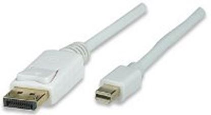 Imagen de MANHATTAN - CABLE DISPLAYPORT -MINI 3.0M BLANCO