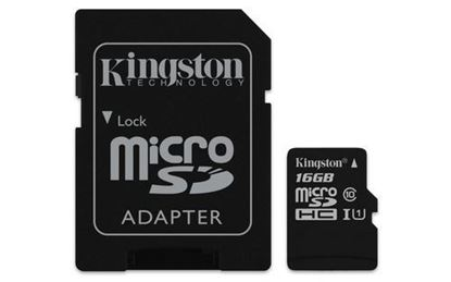 Imagen de PAQ. C/3 - KINGSTON - KINGSTON 16GB MICRO SD CANVAS SELECT CL10 UHS-I 80MBS CADAPT