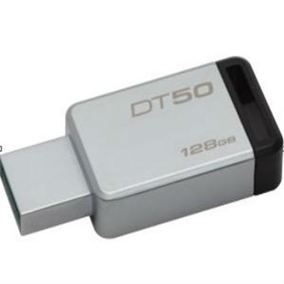 Imagen de KINGSTON - KINGSTON 128GB USB 3.0 DATATRAV METAL NEGRO