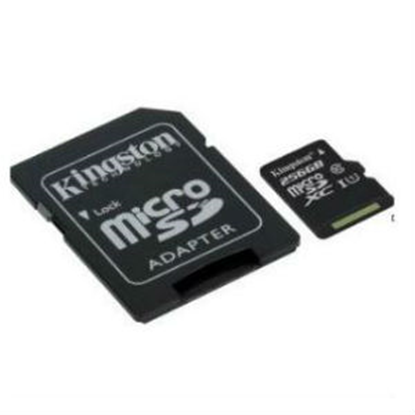 Imagen de FORMA-TODO - KINGSTON 256GB MICRO SD CANVAS SELECT CL10 UHS-I 80MBS CADAPT