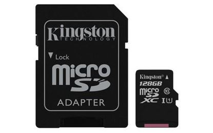 Imagen de FORMA-TODO - KINGSTON 128GB MICRO SD CANVAS SELECT CL10 UHS-I 80MBS CADAPT