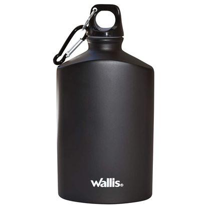 Imagen de WALLIS - CILINDRO BOTELLA PLANA CON GANCHO Y TAPA ROSCA, 500 ML, NEGRO