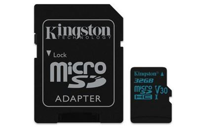 Imagen de FORMA-TODO - KINGSTON 32GB MICRO SD CANVAS GO U3 UHS-I V30 90MBS CADAPT