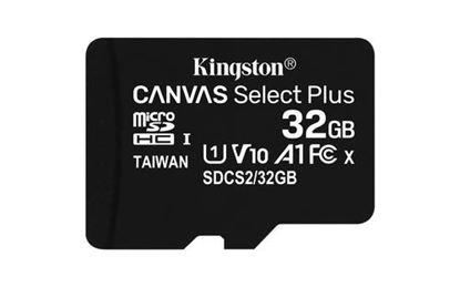 Imagen de PAQ. C/2 - KINGSTON - KINGSTON 32GB MICSDHC CANVAS SELECT PLUS 100R A1 C10 CARD + ADP