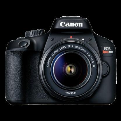 Imagen de CANON - CAMARA EOS T100 KIT CON LENTE EF-S 18-55MM DCIII