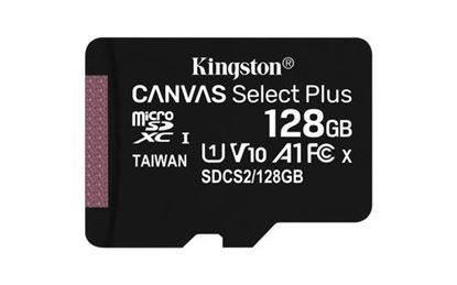 Imagen de KINGSTON - MICRO SDXC KINGSTON 128GBCANVAS SELECT PLUS 100R A1 C10 CARD + ADP