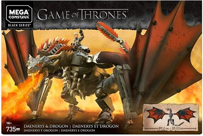 Imagen de MEGA CONSTRUX - GKG97 GAME OF THRONES DAENERYS Y DROGON 735 PZAS.