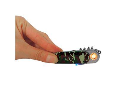 Imagen de WALLIS -  ENCENDEDOR ELECTRÓNICO USB CON MULTIHERRAMIENTA, CAMUFLAJE