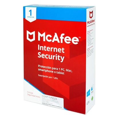 Imagen de MCAFEE - MCAFEE INTERNET SECURITY 1 ANO PARA 1 DISPOSITIVO