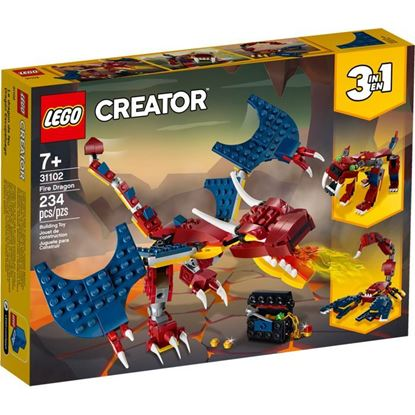 Imagen de LEGO - 31102 CREATOR 3 EN 1 DRAGON DE FUEGO 234 PZAS.