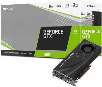 Imagen de PNY - TARJETA DE VIDEO PNY GTX 1660 6G BLOWER GDDR5 PCIE X16 3.0 DP/HDM