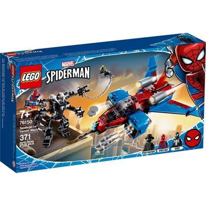 Imagen de LEGO - 76150 SPIDERMAN JET ARACNIDO VS. ARMADURA ROBOTICA DE VENOM 371 PZAS.