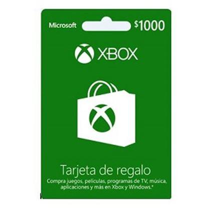 Imagen de MICROSOFT XBOX - TARJETA DE REGALO XBOX LIVE 1000 PESOS