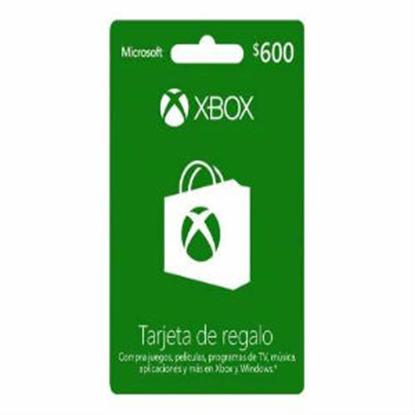 Imagen de MICROSOFT XBOX - TARJETA DE REGALO XBOX LIVE 600 PESOS