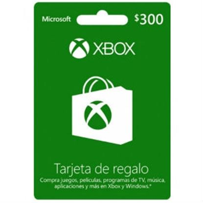 Imagen de MICROSOFT XBOX - TARJETA DE REGALO XBOX LIVE 300 PESOS