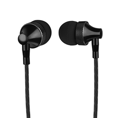 Imagen de PAQ. C/2 - PERFECT CHOICE - AUDIFONOS IN-EAR CON MICROFONO STRETTO (NEGRO)