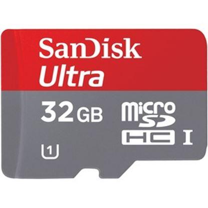 Imagen de SANDISK - MEMORIA SANDISK 32GB ULTRA MICROSD CLASE 10 CON ADAPTADOR