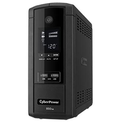 Imagen de CYBER POWER - NOBREAK UPS CYBERPOWER BRG850 850/510W LCD AVR TORRE 120V 5YW