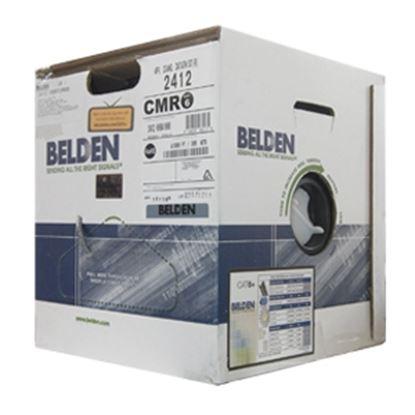 Imagen de TECNOSINERGIA - CABLE UTP CAT6 BELDEN 2412 008A1000 GRIS 305MTS CMR