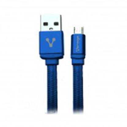 Imagen de PAQ. C/10 - VORAGO - CABLE USB VORAGO CAB-113 AZUL U SB 2 A MICRO USB 1METROS BOLSA