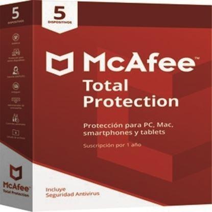 Imagen de MCAFEE - MCAFEETOTAL PROTECTION 1 A±O PARA 5 DISPOSITIVOS