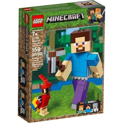 Imagen de LEGO - 21148 MINECRAFT BIGFIG STEVE CON LORO 159 PZAS.