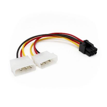 Imagen de PAQ. C/3 - DTC - B-ROBOTIX - CABLE INTERNO LP4 A 6 PINES PCI EXPRESS PARA TARJETA DE VIDEO