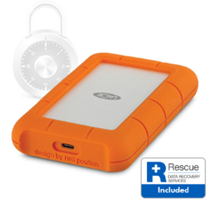 Imagen de SEAGATE - DISCO DURO EXT PORTATIL USB 3.1 2TB USB-C 2YR RUGGED SECURE