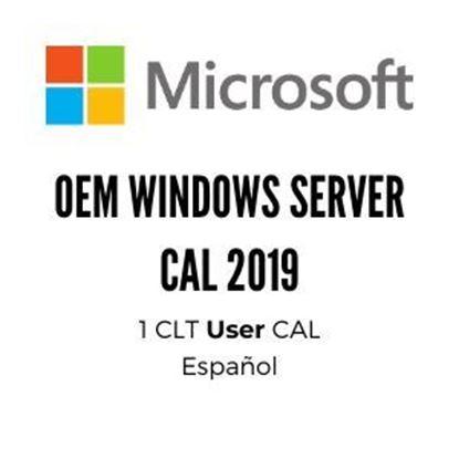 Imagen de MICROSOFT - OEM WINDOWS SERVER CAL 2019 SPA 1PK DSP OEI 1 CLT USER CAL