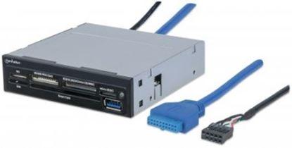"Imagen de MANHATTAN - LECTOR TARJETAS BAHIA INTERNA 3.5"" USB 3.0, 34 EN 1"
