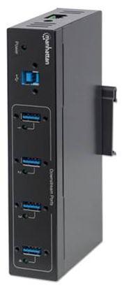 Imagen de MANHATTAN - HUB USB V3.0  4 PTOS INDUSTRIAL