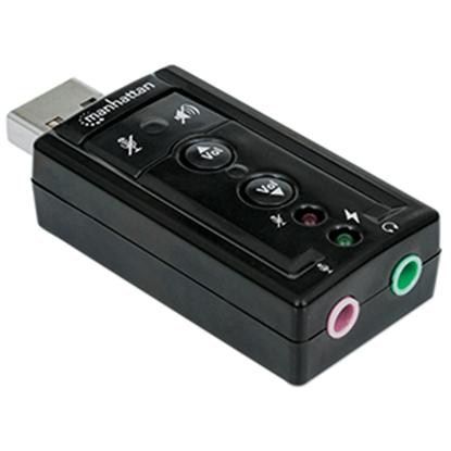 Imagen de IC - ADAPTADOR CONVERTIDOR TARJETA SONIDO 7.1 USB A 3.5MM