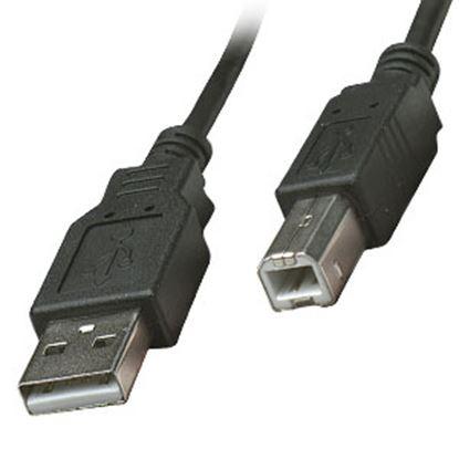 Imagen de PAQ. C/10 - IC - CABLE USB A-B 1.8M IMPRESORA GRIS .