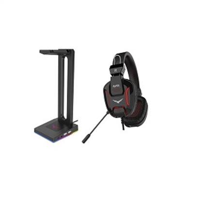 Imagen de CORSAIR - AUDIFONOS GAMER RAPTOR LED + BASE AUDIFONOS GAMER RGB 2 USB
