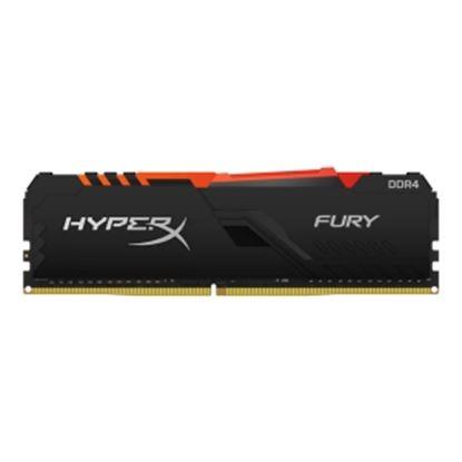 Imagen de KINGSTON - HYPERX RAM FURY 8G DIMM DDR4 30 00 MHZ RGB XMP 2.0 CL15 NEGRO