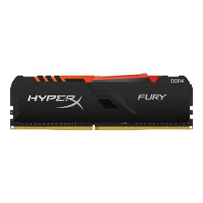 Imagen de KINGSTON - HYPERX RAM FURY 16G DIMM DDR4 3 000 MHZ RGB XMP 2.0/1.2V/CL16 NEGRO