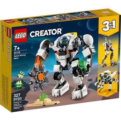 Imagen de LEGO - 31115 CREATOR 3 EN 1 MECH MINERO ESPACIAL 327 PZAS.