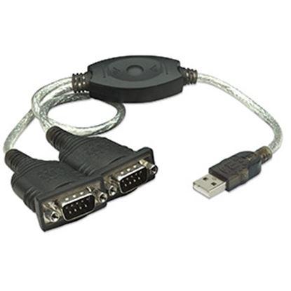 Imagen de IC - CABLE ADAPTADOR CONVERTIDOR USB A 2 PUERTOS SERIAL DB9 RS232