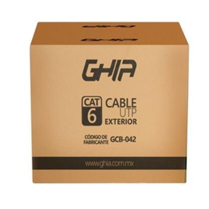 Imagen de GHIA - BOBINA DE CABLE EXTERIOR GHIA CAT6 SIN GEL UTP CCA 305M 1000FT CE